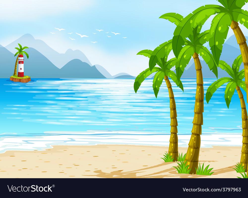 A beach vector   Price: 1 Credit (USD $1)