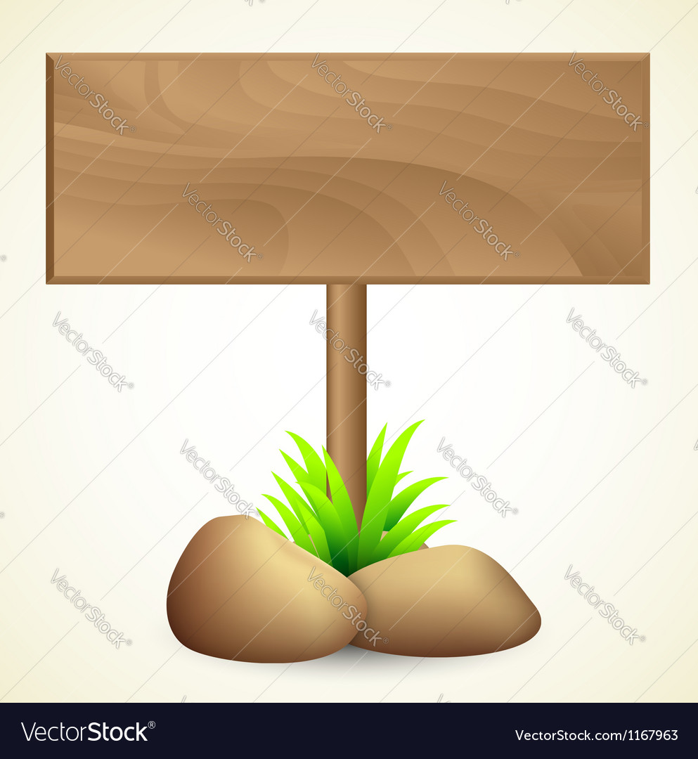 Blank wooden sign vector | Price: 1 Credit (USD $1)