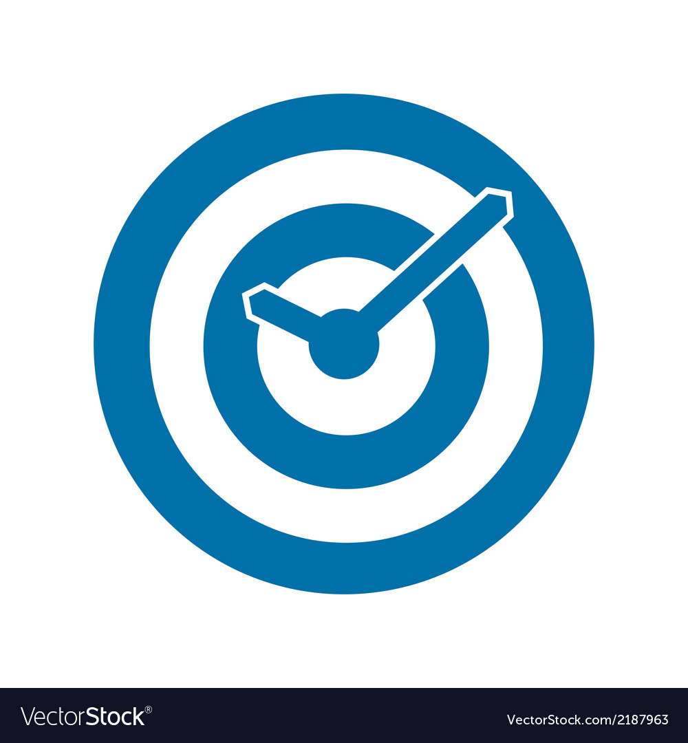 Blue target conceptual clock icon vector | Price: 1 Credit (USD $1)