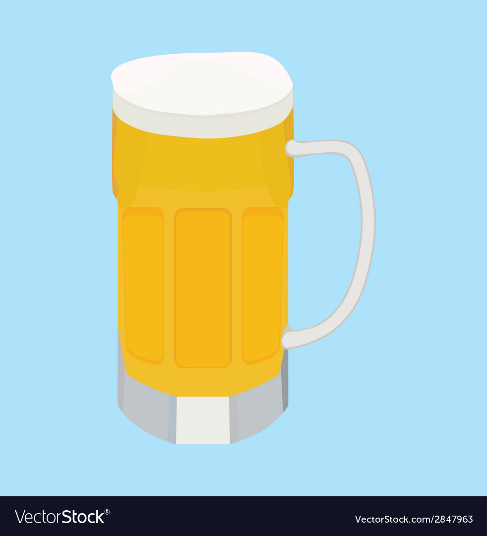 Cartoon beer vector | Price: 1 Credit (USD $1)