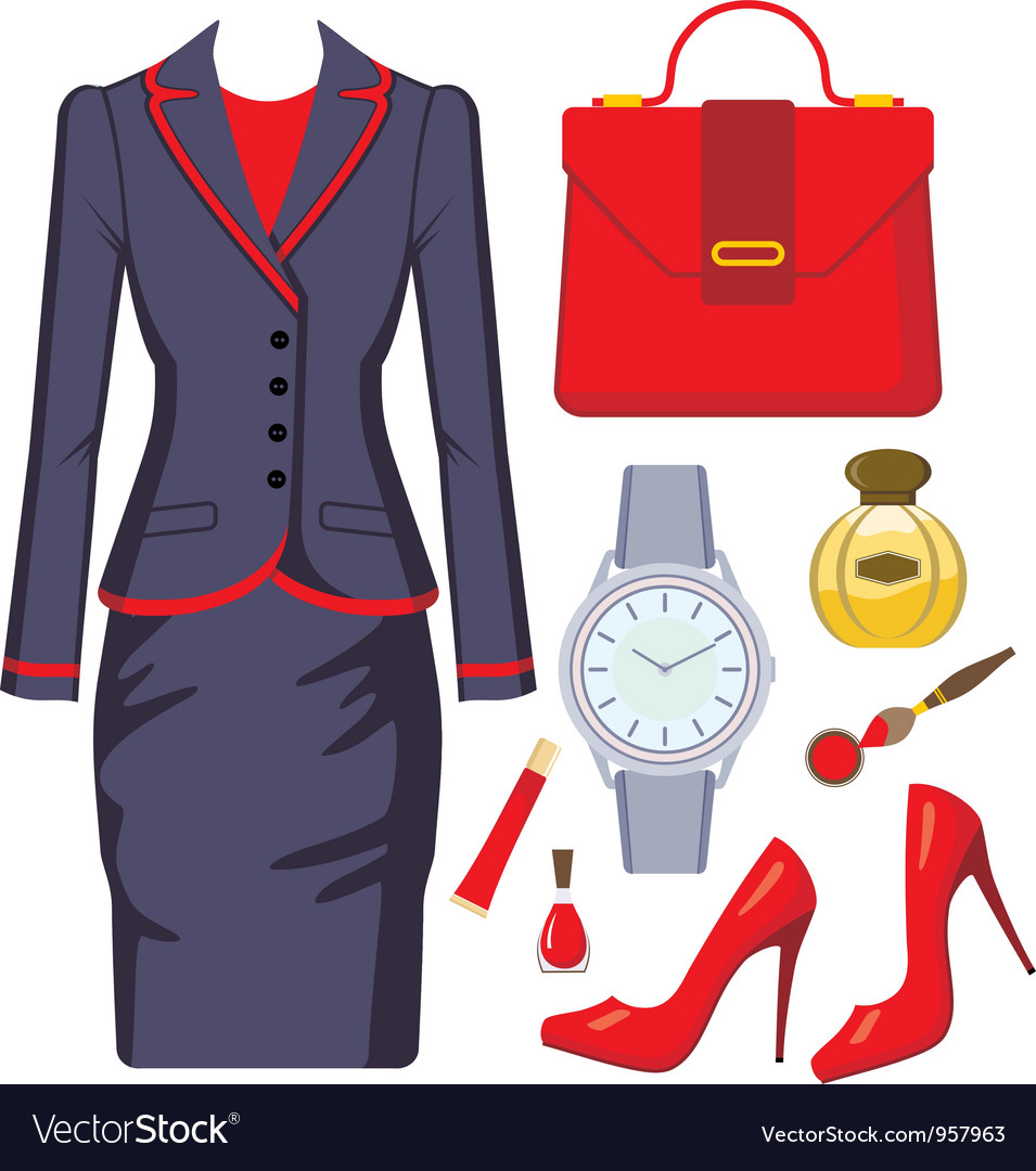 Fashion set from a female suit vector | Price: 3 Credit (USD $3)