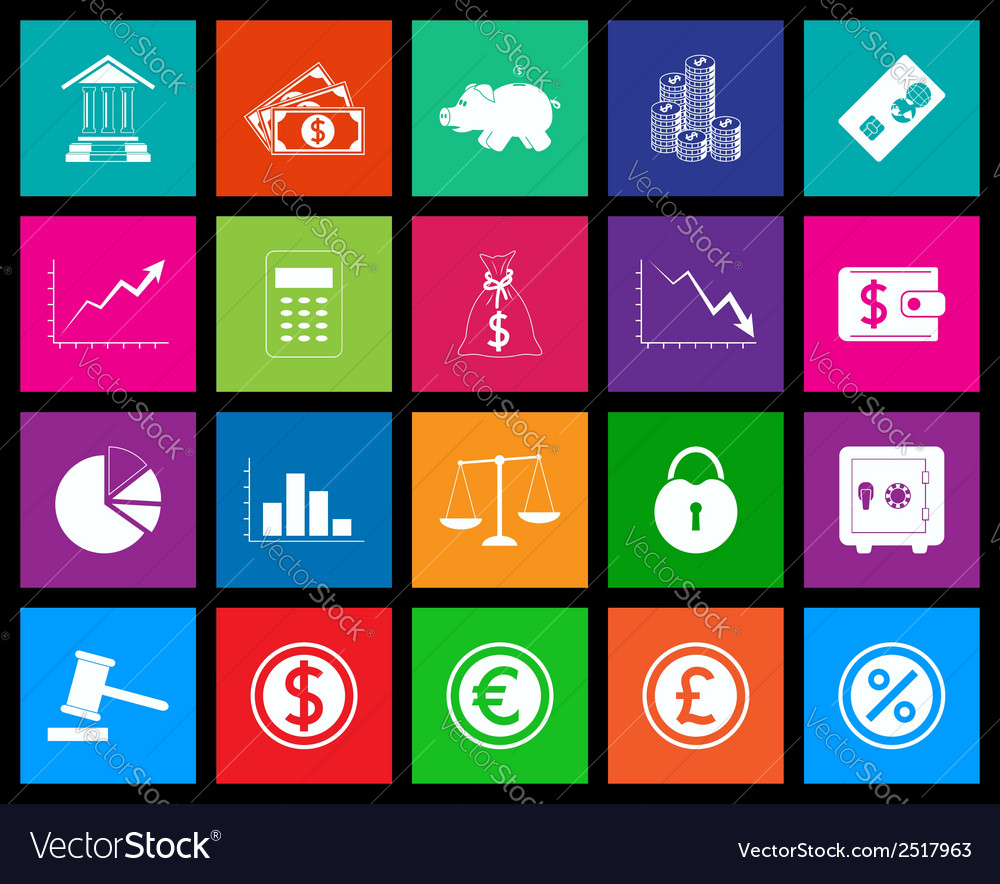Finance icon series in metro style vector | Price: 1 Credit (USD $1)