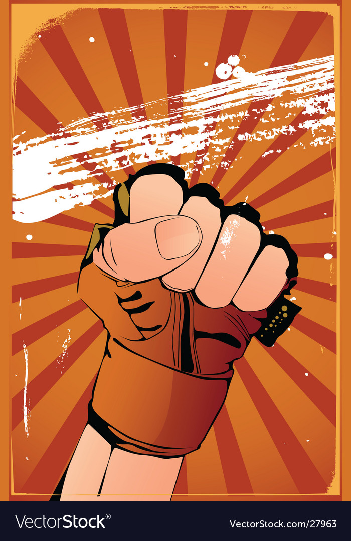 Fist poster vector   Price: 3 Credit (USD $3)