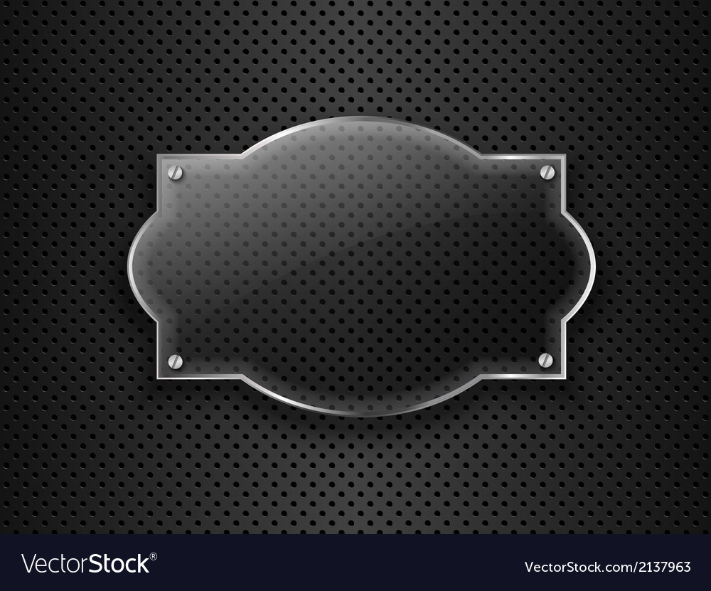 Glass frame on metal background vector