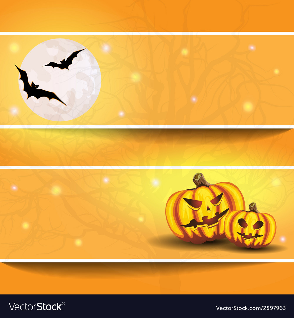 Halloween background on the postcard vector | Price: 1 Credit (USD $1)
