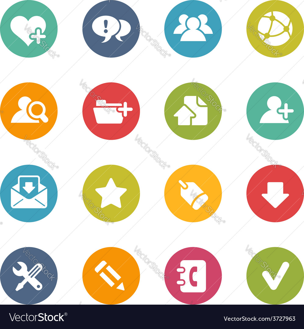 Internet and blog icons vector   Price: 1 Credit (USD $1)