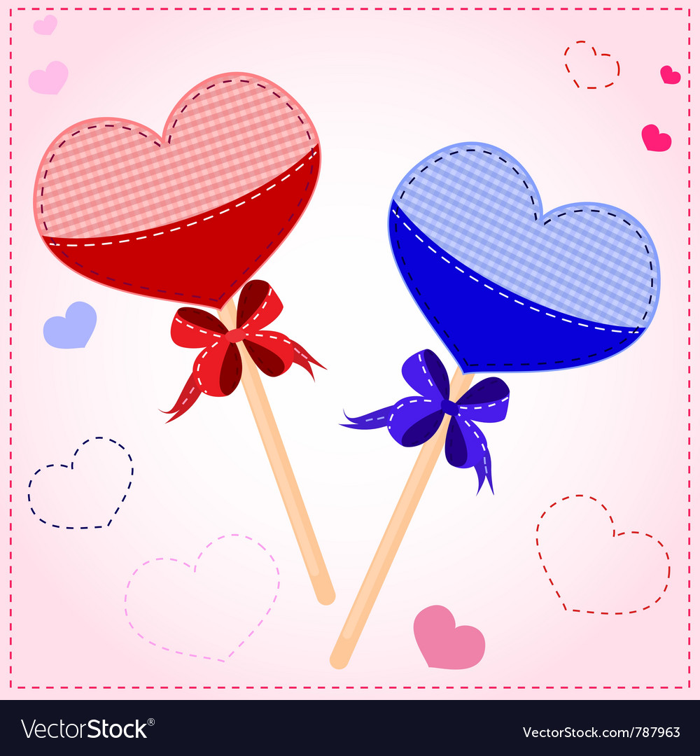 Lollipop valentines card vector | Price: 1 Credit (USD $1)
