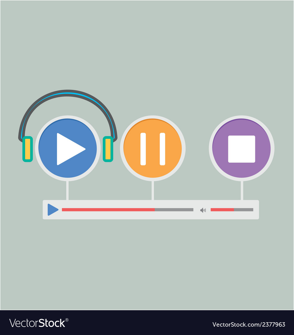 Music player 21 vector | Price: 1 Credit (USD $1)
