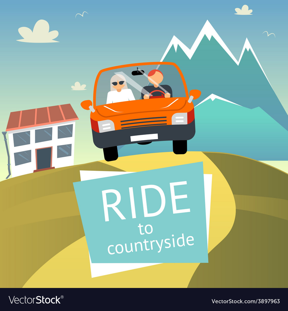 Ride to countryside vector | Price: 1 Credit (USD $1)
