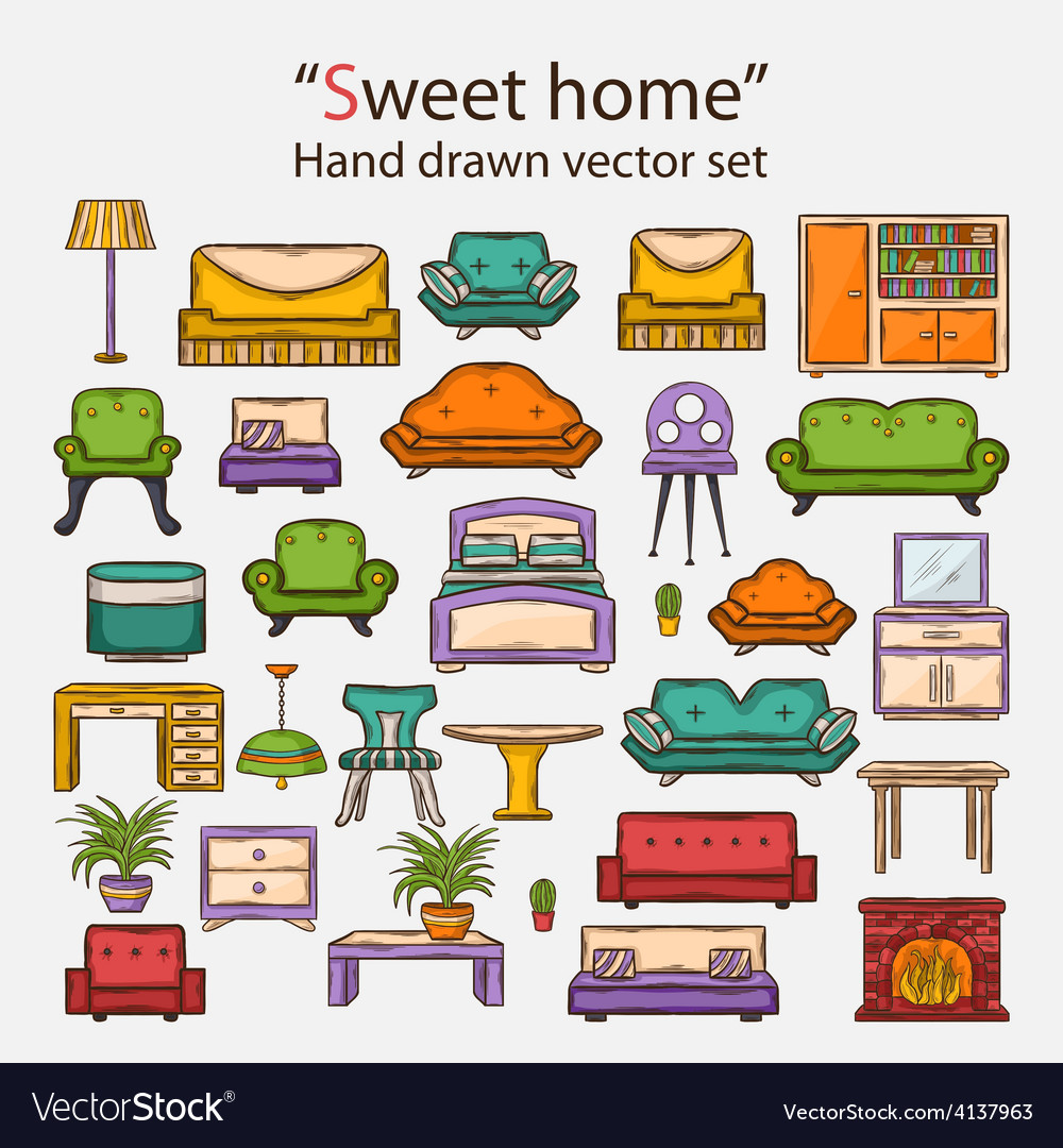 Sweet home set vector | Price: 1 Credit (USD $1)