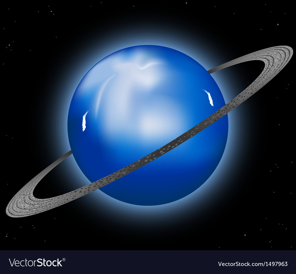 Uranus planet vector | Price: 1 Credit (USD $1)