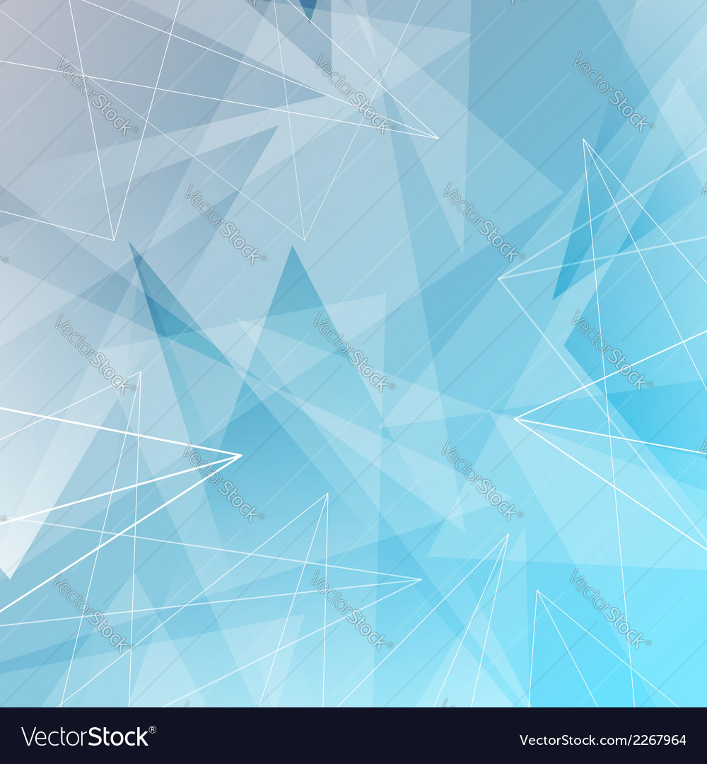 Abstract triangles and lines blue background vector | Price: 1 Credit (USD $1)
