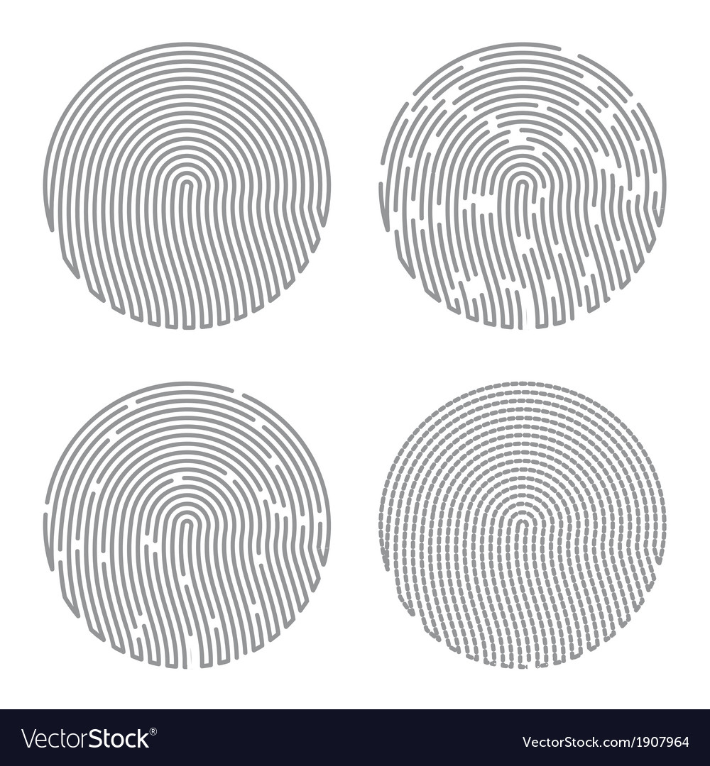 Black isolated fingerprint vector | Price: 1 Credit (USD $1)