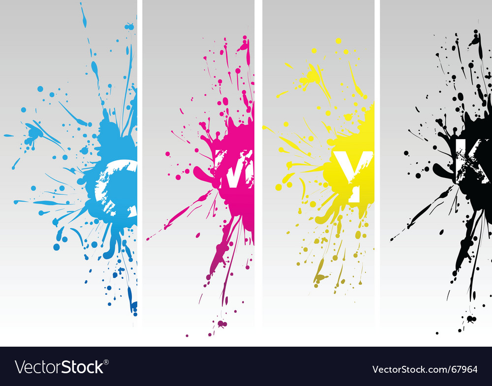Cmyk splat vector | Price: 1 Credit (USD $1)