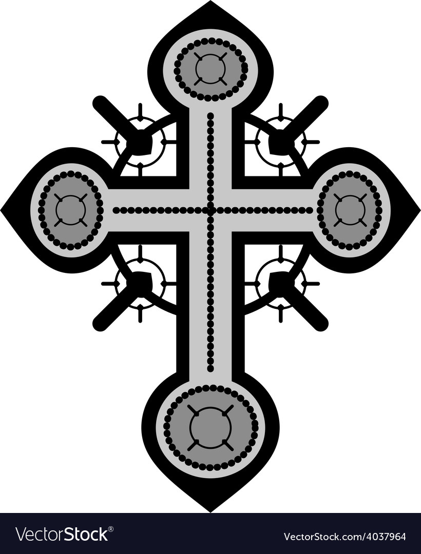 Decorative cross vector | Price: 1 Credit (USD $1)