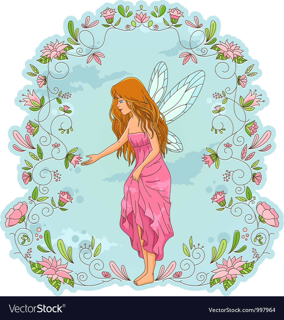 Flower fairy vector | Price: 3 Credit (USD $3)