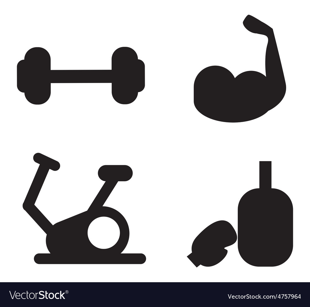Gym icons vector | Price: 1 Credit (USD $1)