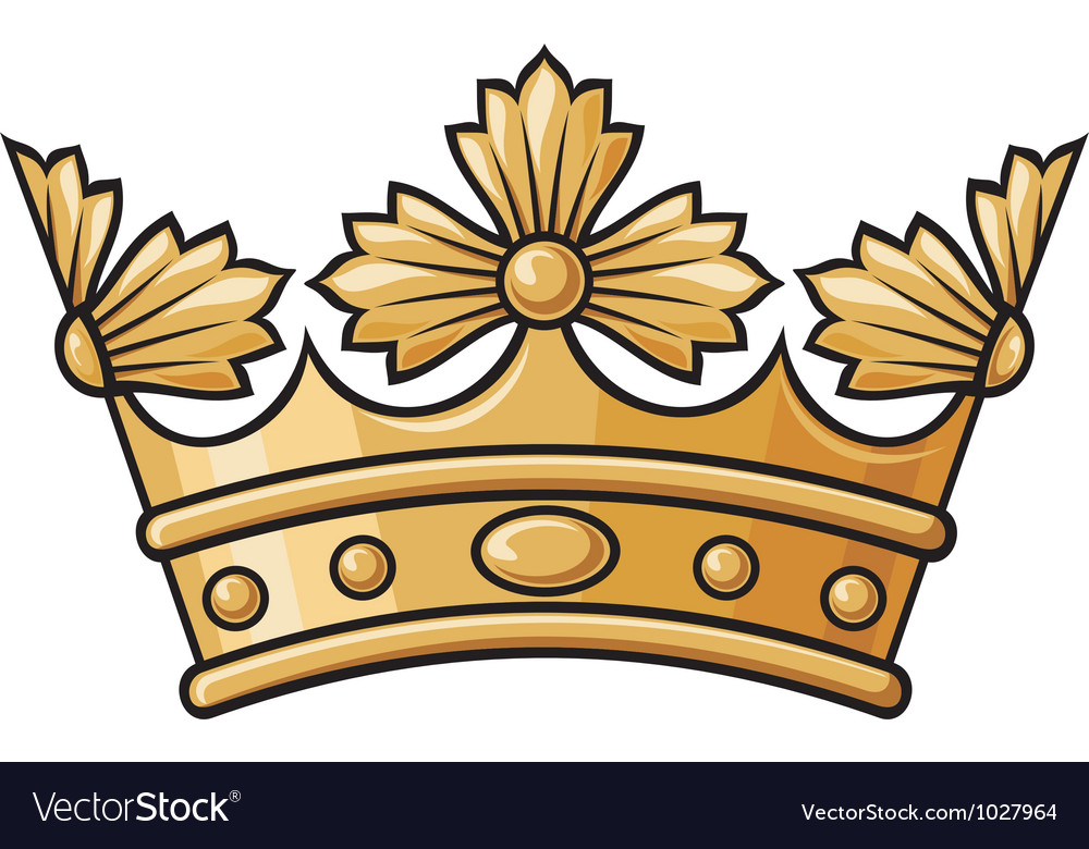 Heraldic crown vector | Price: 1 Credit (USD $1)