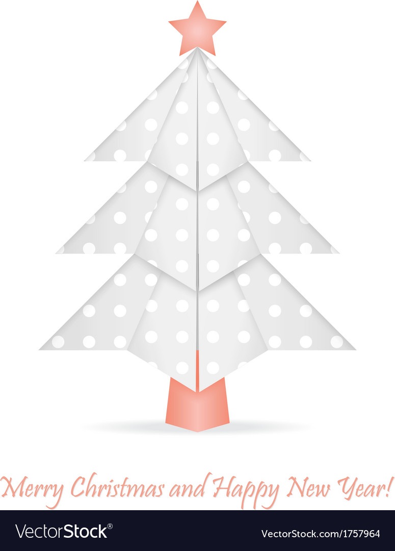 Origami christmas tree vector | Price: 1 Credit (USD $1)