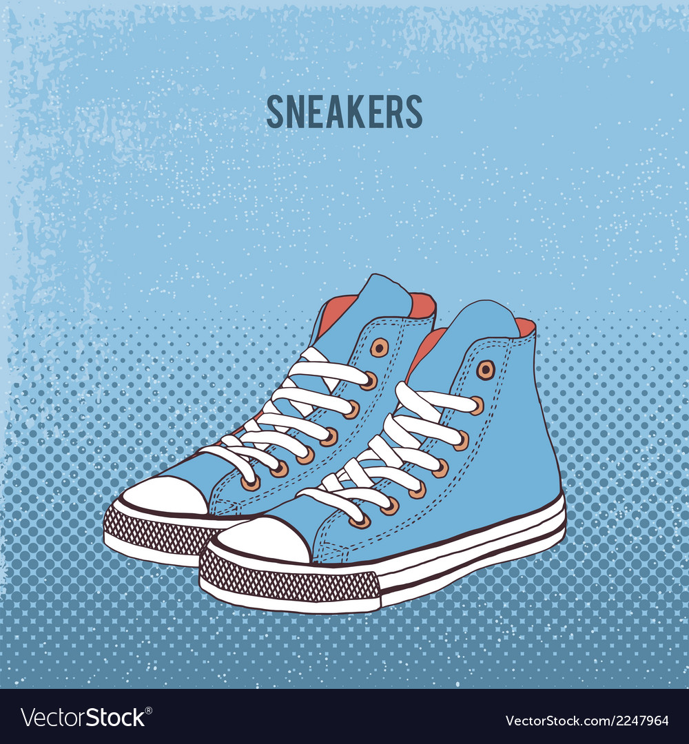 Pair of sneakers vector | Price: 1 Credit (USD $1)