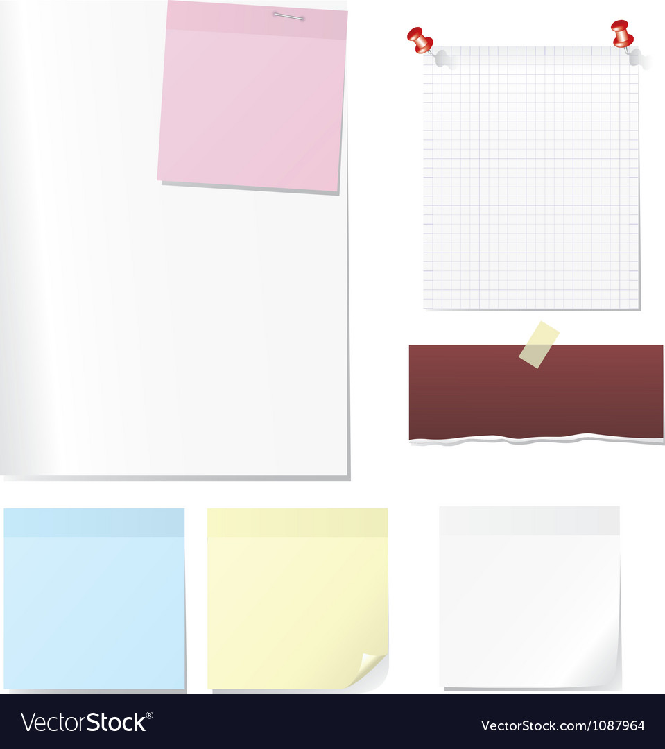 Post memo and sheet vector | Price: 1 Credit (USD $1)