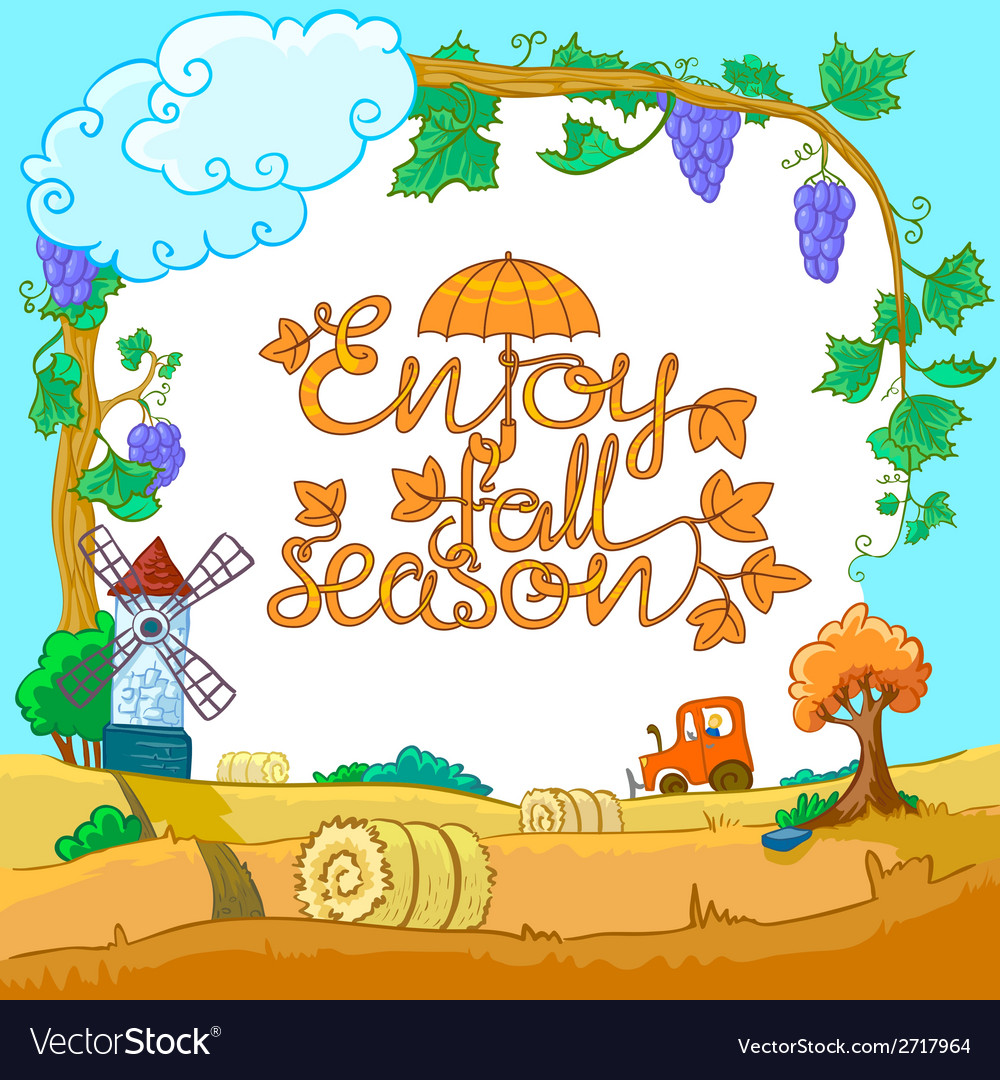Season landscape vector | Price: 1 Credit (USD $1)