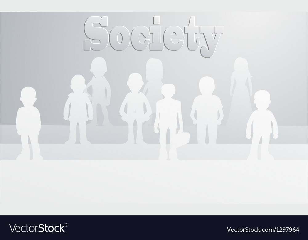 Society vector | Price: 1 Credit (USD $1)