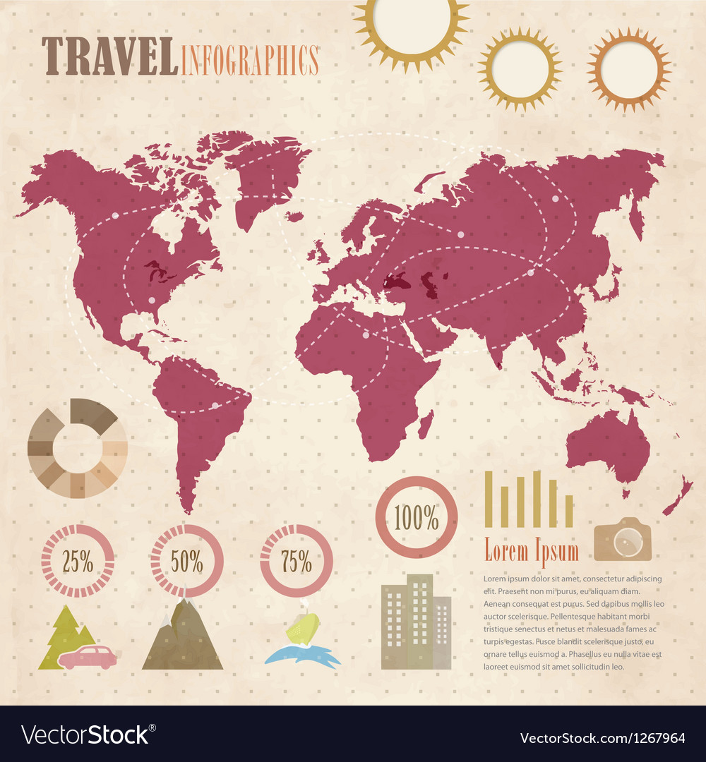Travel info graphic vector | Price: 1 Credit (USD $1)