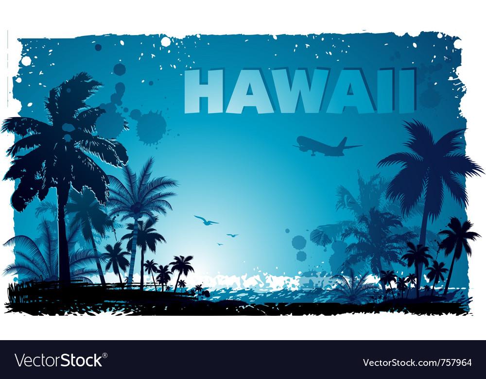 Tropical hawaiian background vector | Price: 1 Credit (USD $1)