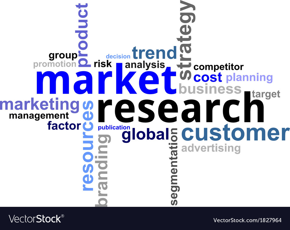 Word cloud market research vector | Price: 1 Credit (USD $1)