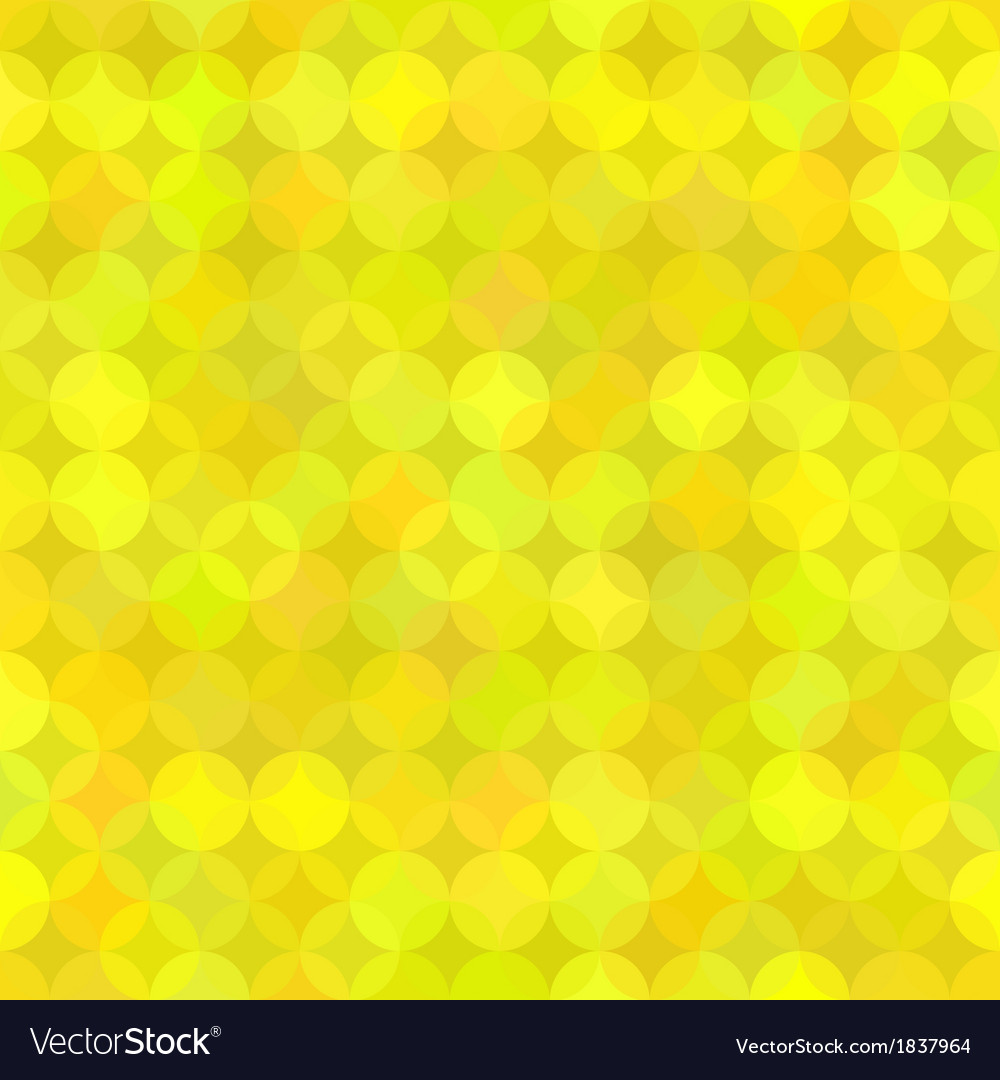 Yellow geometric background from rounds vector | Price: 1 Credit (USD $1)