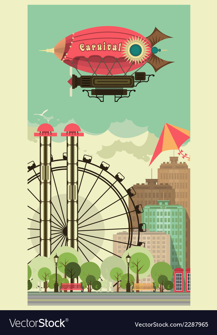 Carnival city park vector | Price: 3 Credit (USD $3)