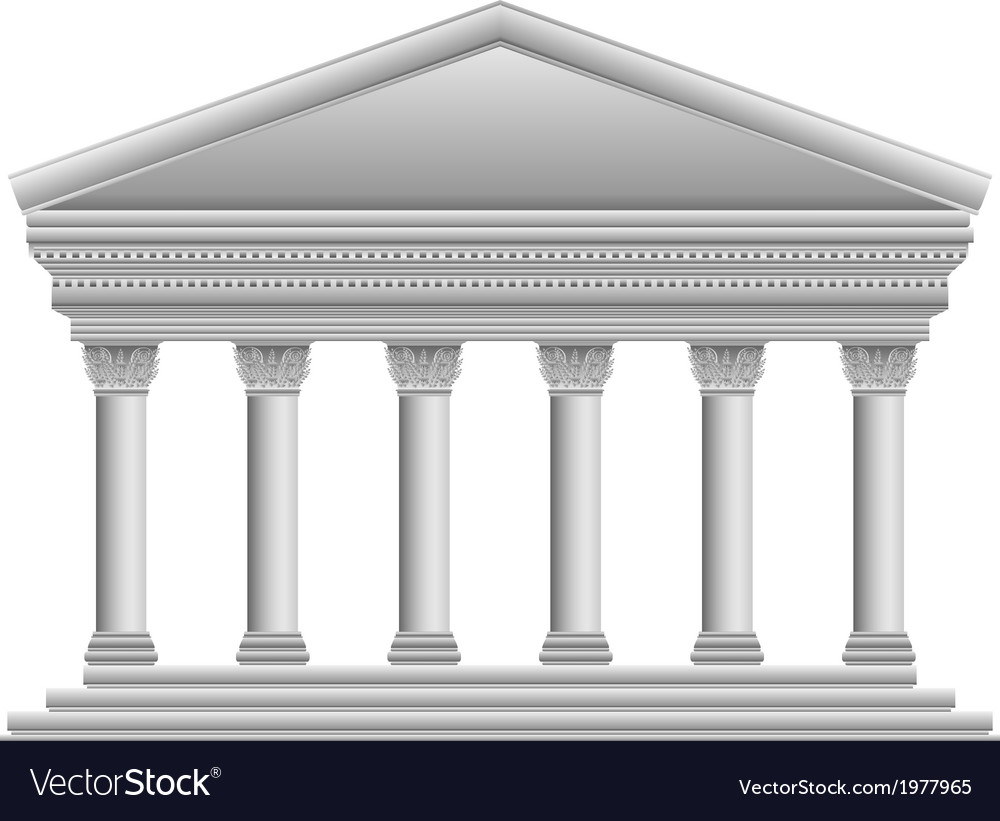 Corinthian temple vector | Price: 1 Credit (USD $1)