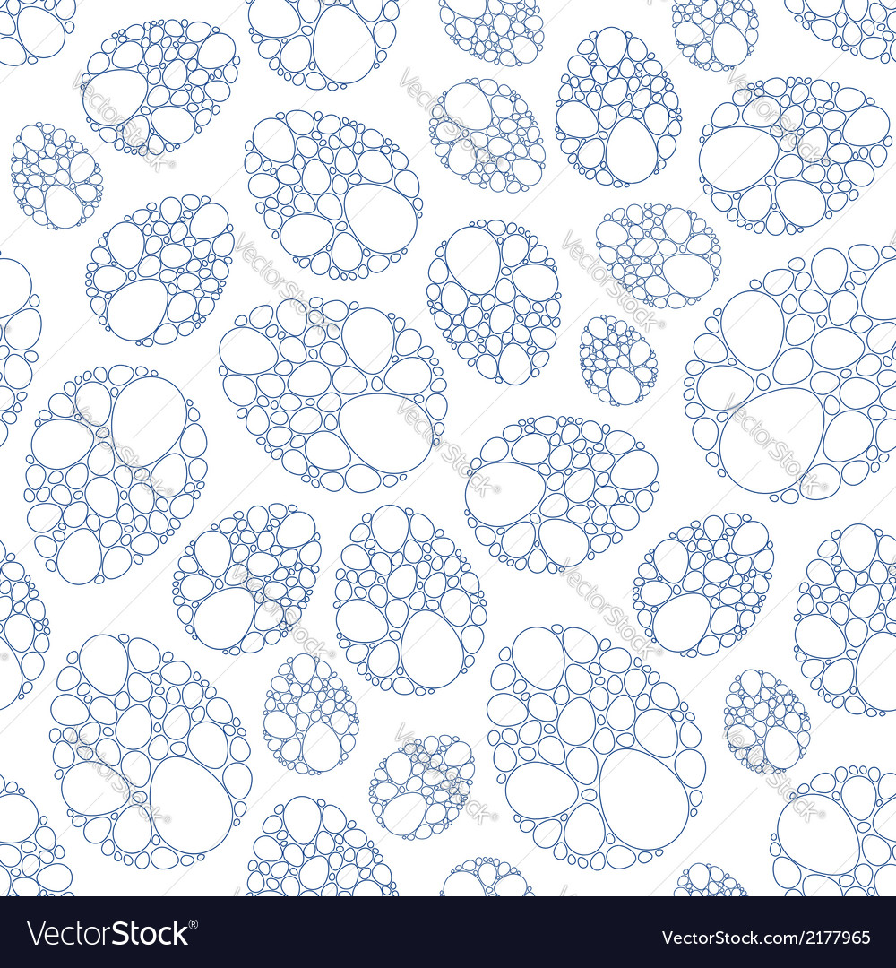 Easter lace eggs seamless pattern vector | Price: 1 Credit (USD $1)