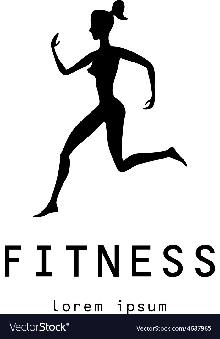 Fitness girl label - vector | Price: 1 Credit (USD $1)