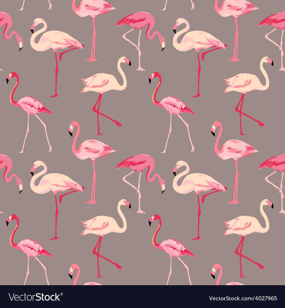 Flamingo bird background vector   Price: 1 Credit (USD $1)