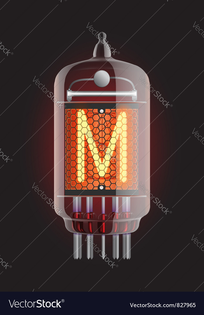 Nixie tube indicator vector | Price: 1 Credit (USD $1)