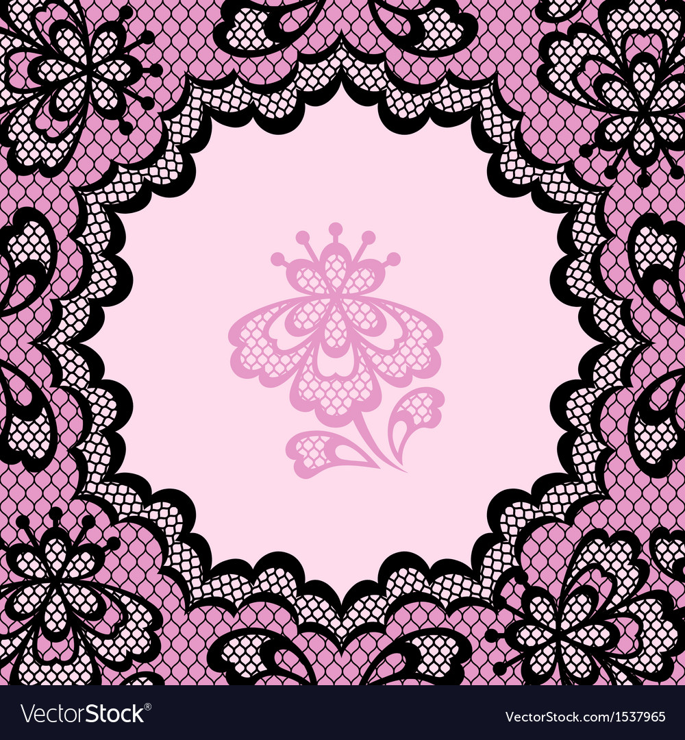 Vintage lace frame abstract ornament texture vector | Price: 1 Credit (USD $1)