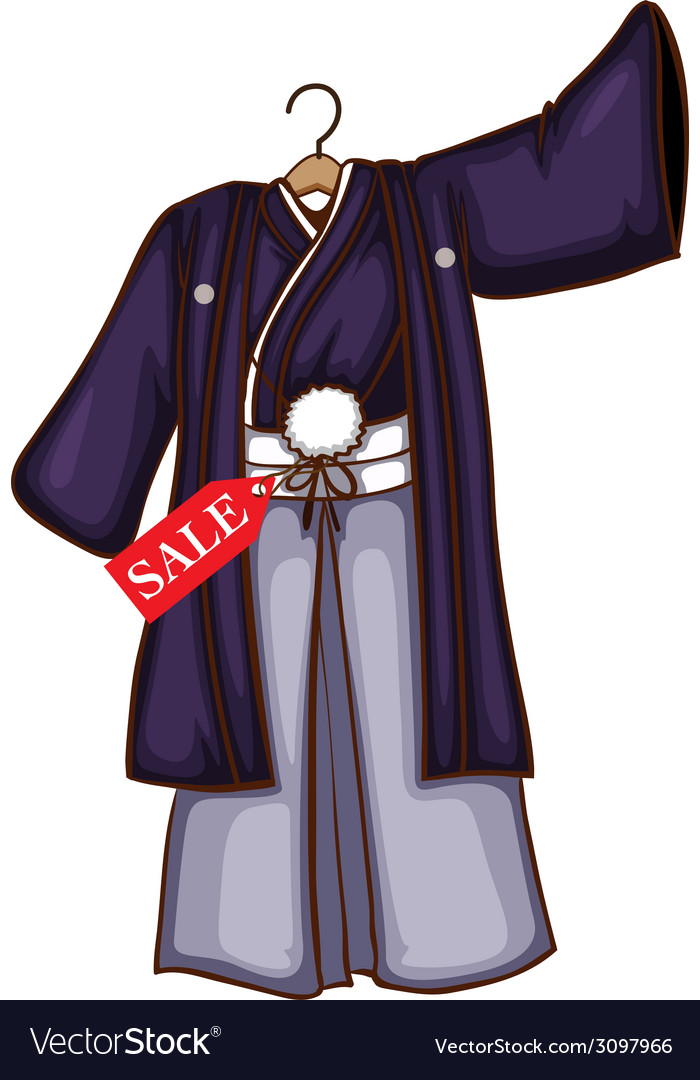 A simple dress from asia for sale vector | Price: 1 Credit (USD $1)