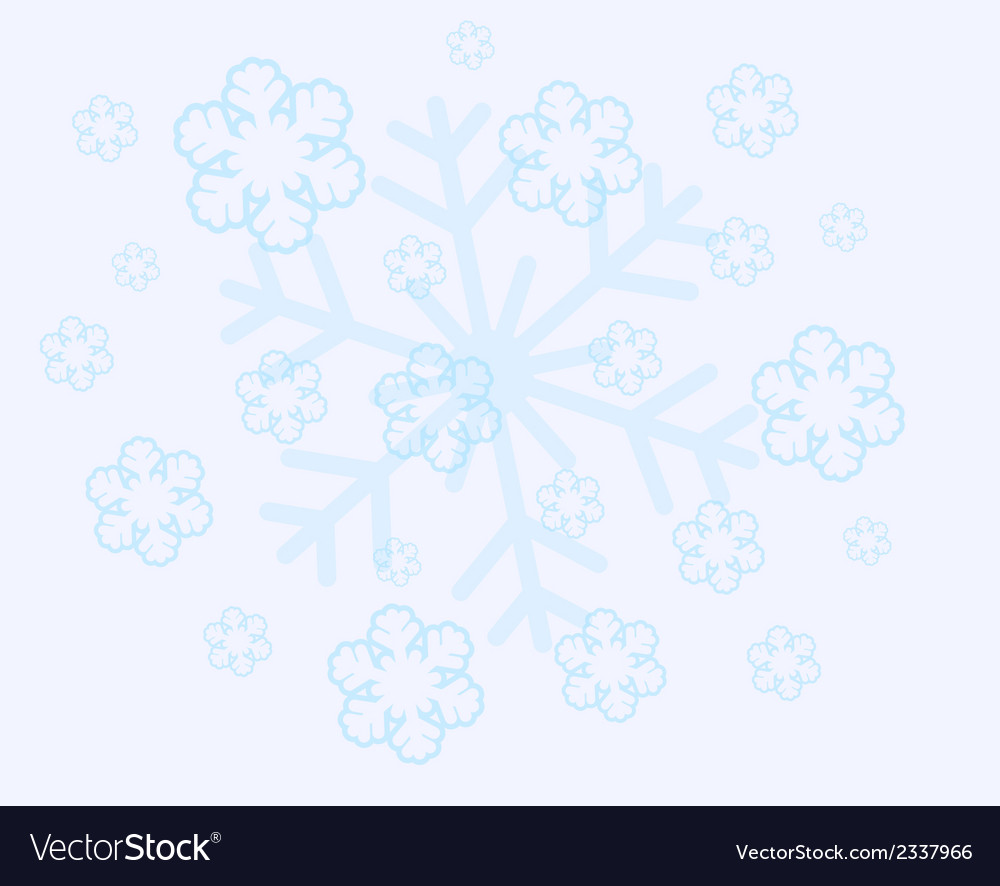 Abstract christmas snow flakes vector | Price: 1 Credit (USD $1)
