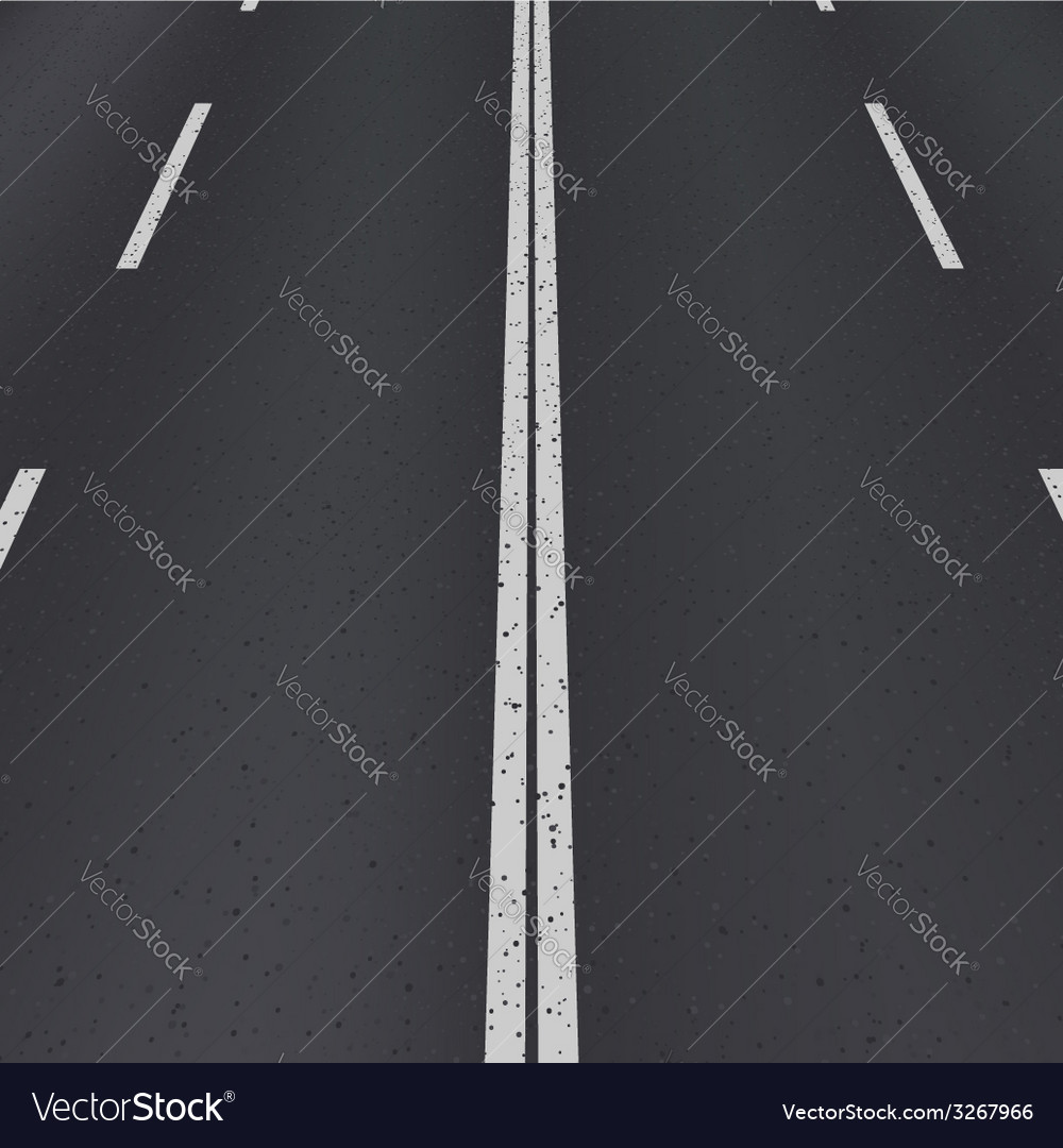 Asphalt highway perspective view vector | Price: 1 Credit (USD $1)