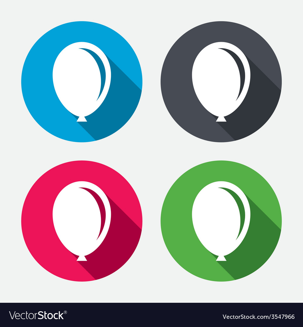 Balloon sign icon birthday air balloon vector | Price: 1 Credit (USD $1)