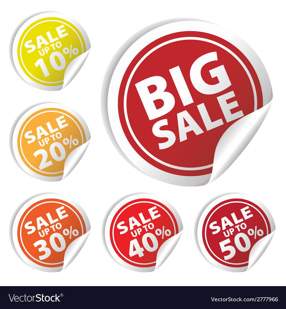 Bigsale circle sale up to 10 to 50 percent vector | Price: 1 Credit (USD $1)