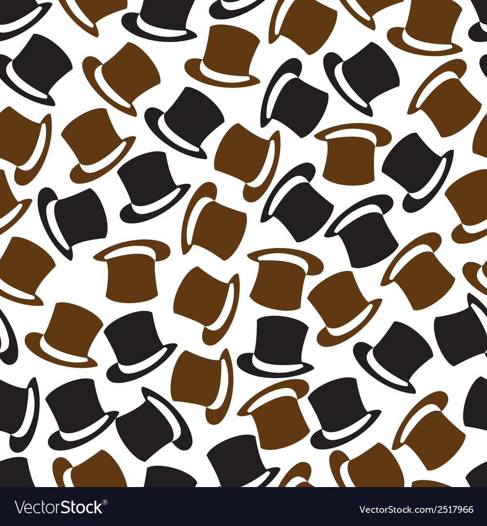 Black and brown hat pattern eps10 vector | Price: 1 Credit (USD $1)