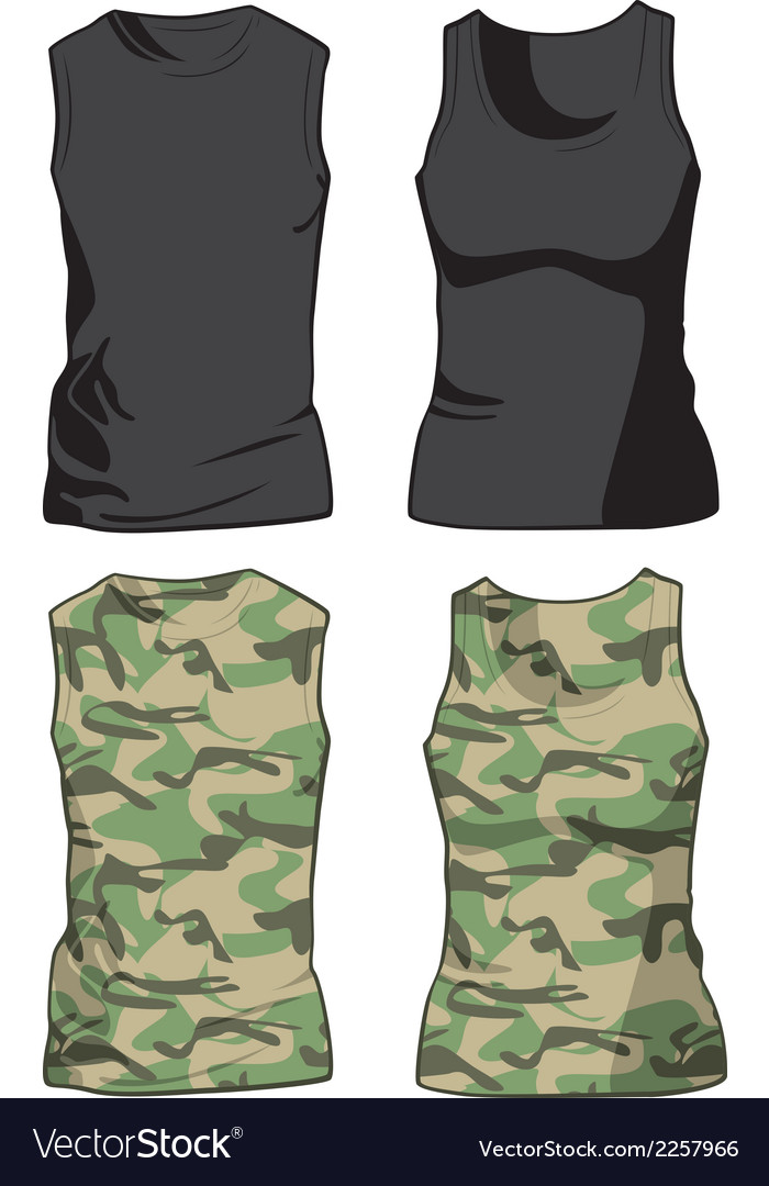 Black and military shirts template vector | Price: 1 Credit (USD $1)