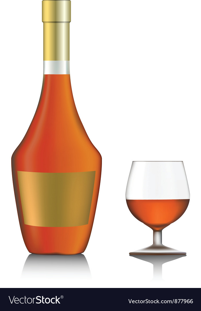 Cognac bottle vector | Price: 1 Credit (USD $1)