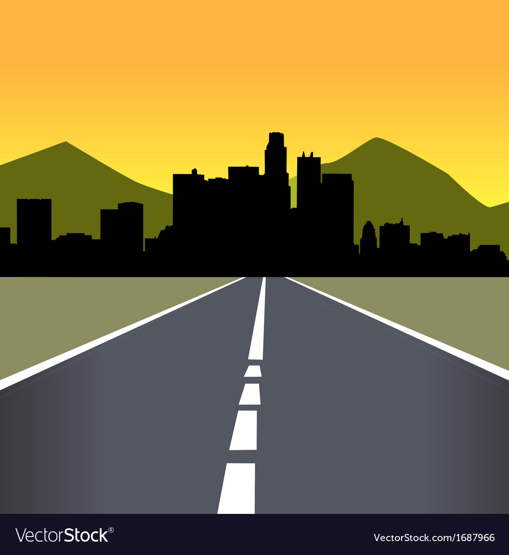 Late afternoon city landscape vector | Price: 1 Credit (USD $1)