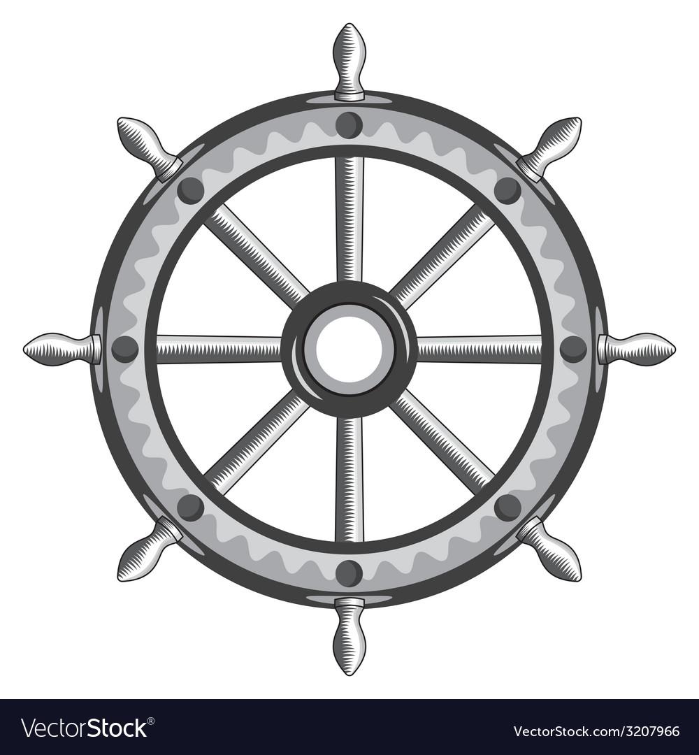 Ship wheel vector | Price: 1 Credit (USD $1)
