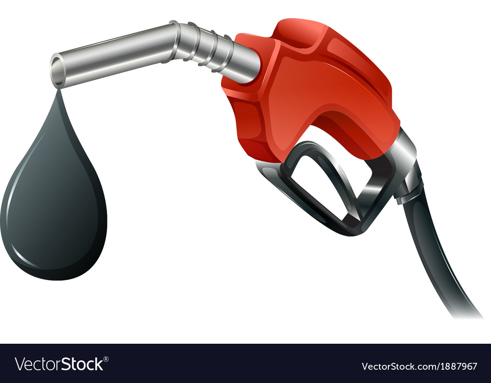A gray and red colored fuel pump vector | Price: 1 Credit (USD $1)