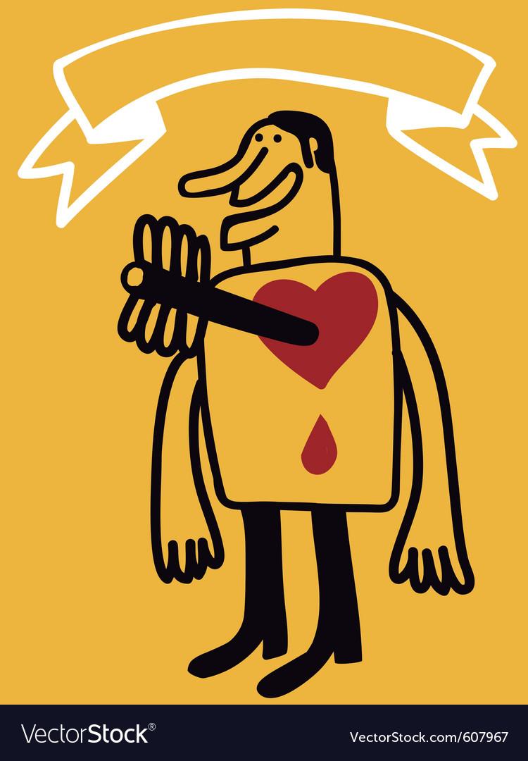 Arrow in heart vector | Price: 1 Credit (USD $1)